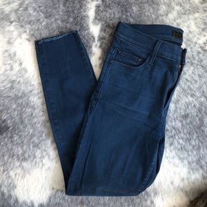 MOTHER high waisted blue jeans size 28